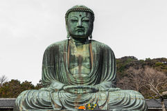 Il grande Buddha a Kamakura Fotografia Stock