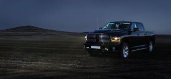 Il grande camioncino americano Fotografia Stock
