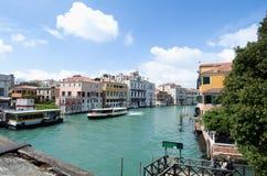 Il grande canale a Venezia, Italia Fotografia Stock Libera da Diritti