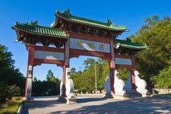Il grande cancello di stile cinese Fotografie Stock Libere da Diritti
