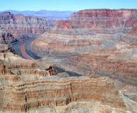 Il grande canyon ed il fiume Fotografie Stock Libere da Diritti