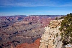 Il grande canyon in inverno Immagini Stock