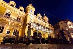 Il grande casinò Monte Carlo alla notte monaco Immagine Stock Libera da Diritti