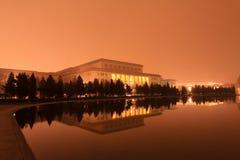 Il grande corridoio della gente nella notte, Pechino Fotografia Stock Libera da Diritti