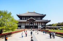 Il grande corridoio di Buddha del tempio di Todaiji, Nara, Giappone 1 Fotografie Stock