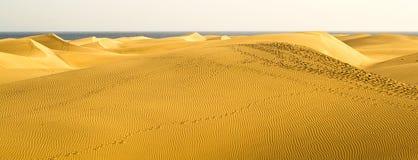 Il grande deserto di Gran Canaria Fotografia Stock Libera da Diritti