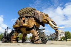 Il grande elefante di Nantes Fotografie Stock Libere da Diritti