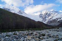 Il grande ghiacciaio di Adishi Immagini Stock