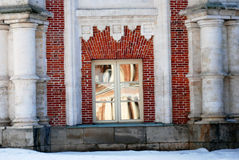Il grande palazzo nel parco di Tsaritsyno a Mosca Fotografie Stock Libere da Diritti