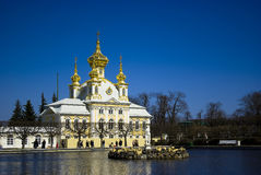 Il grande palazzo, Peterhof Fotografie Stock