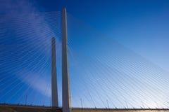 Il grande ponte è sui cavi Fotografie Stock Libere da Diritti