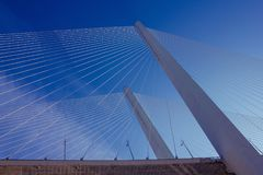 Il grande ponte della città Fotografia Stock
