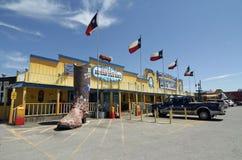 Il grande ranch della bistecca del Texan Fotografie Stock Libere da Diritti