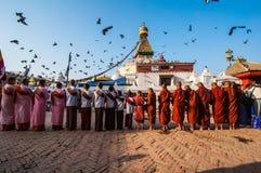 Il grande stupa Immagini Stock Libere da Diritti