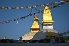 Il grande stupa, Bodnath Fotografie Stock
