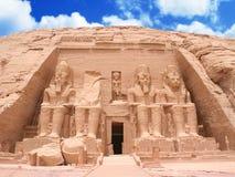 Il grande tempio ad Abu Simbel Fotografia Stock Libera da Diritti