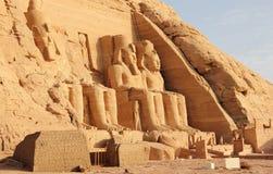 Il grande tempio di Ramesses II Abu Simbel, Egitto Immagini Stock