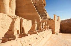 Il grande tempio di Ramesses II Abu Simbel, Egitto Fotografie Stock Libere da Diritti