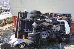 Il grande terremoto orientale del Giappone Immagini Stock