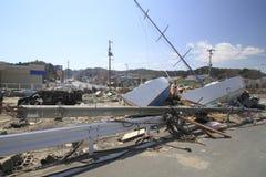 Il grande terremoto orientale del Giappone Fotografie Stock