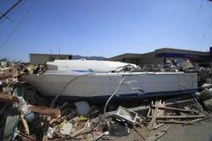 Il grande terremoto orientale del Giappone Fotografia Stock