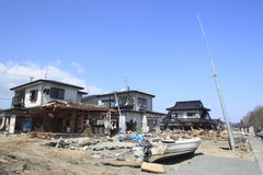 Il grande terremoto orientale del Giappone Fotografia Stock Libera da Diritti