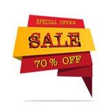 Il grande vettore di affare di offerta di prezzo di vendita progetta con la fiamma Illustrazione di vettore Royalty Illustrazione gratis