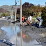Il grandi puliscono, danno di terremoto di Christchurch Fotografie Stock Libere da Diritti