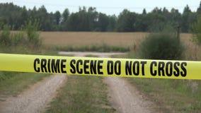 Il grano e la scena del crimine non attraversano stock footage