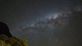 Il grano o la galassia milkyway di rumore stars la vista per il fondo dell'universo Fotografie Stock Libere da Diritti