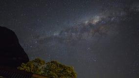 Il grano o la galassia milkyway di rumore stars la vista per il fondo dell'universo Fotografia Stock Libera da Diritti