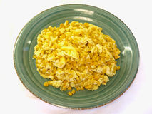 Il granturco dolce & l'uovo mescolare-friggono Fotografia Stock Libera da Diritti