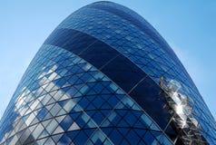 Il grattacielo del cetriolino a Londra Fotografia Stock Libera da Diritti