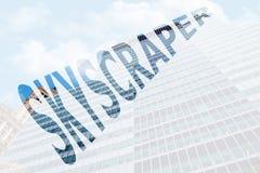 Il grattacielo di parola Fotografie Stock