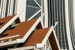 Il grattacielo mura il fondo Fotografia Stock