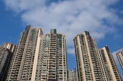 Il grattacielo si eleva costruzioni di appartamento residenziali Shanghai Cina Fotografia Stock