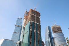 Il grattacielo si sviluppa Fotografia Stock