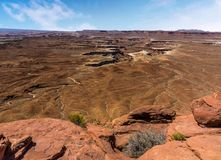Il Green River trascura nel parco nazionale di Canyonlands immagini stock libere da diritti