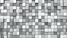 Il Grey cuba il fondo, rappresentazione 3D Fotografia Stock