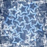 Il grunge blu stars la struttura Fotografia Stock