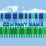 Il gruppo crescente della società corporativa Fotografia Stock
