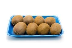 Il gruppo degli otto Kiwi Fruit fresco, studio ha sparato su Backgroun bianco Fotografia Stock