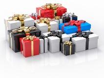 Il gruppo del regalo rende il fondo Fotografia Stock