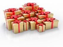 Il gruppo del regalo rende il fondo Fotografie Stock