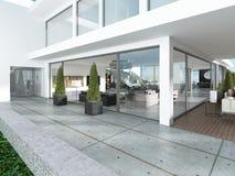Il gruppo dell'entrata della casa moderna è stile contemporaneo royalty illustrazione gratis
