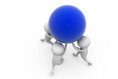 il gruppo dell'uomo 3d porta il concetto della palla Immagine Stock Libera da Diritti