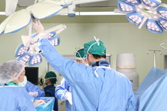 Il gruppo della chirurgia funziona Fotografia Stock Libera da Diritti