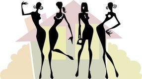 Il gruppo delle donne royalty illustrazione gratis