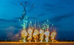 Il gruppo di acrobazie aeree dei banditi dell'aria Fotografia Stock