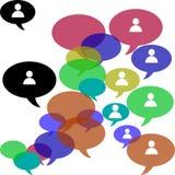 Il gruppo di affari è una comunità sociale Immagini Stock Libere da Diritti
